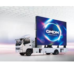 Rotating Mobile LED Display Vehicles