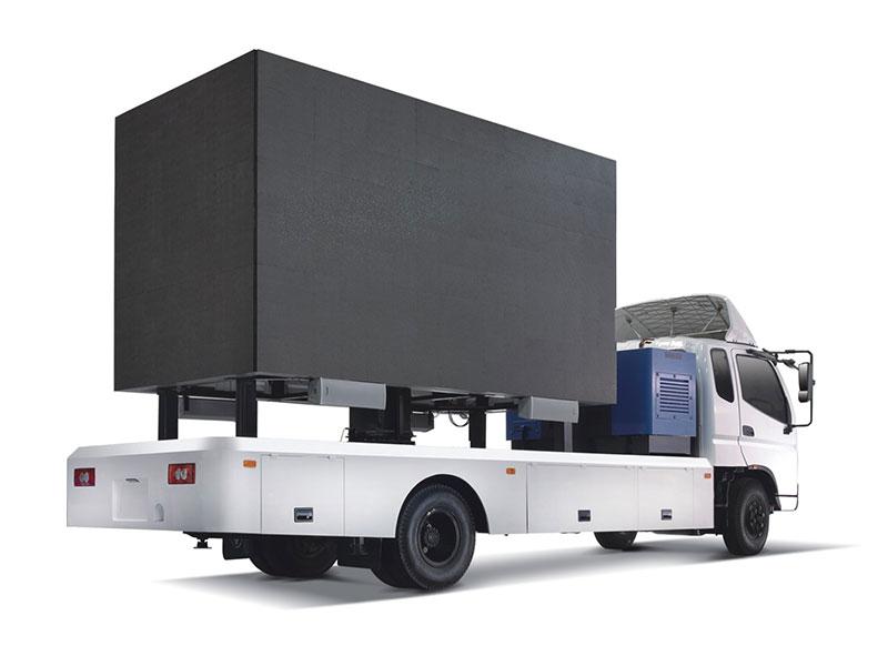 Rotating Mobile Led Vehicle