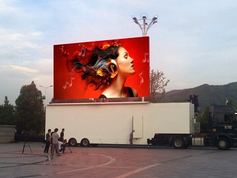 LED mobile exhibition stage truck