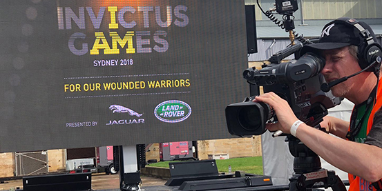 "Jingchuan EF-16 LED mobile trailer meet Prince Harry in Sydney ""Invictus Game"""