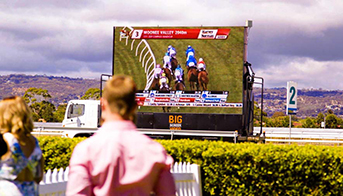 The Relative Advertising Value Of Big Screen Truck