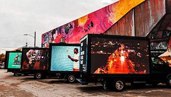 The mobile led billboard truck